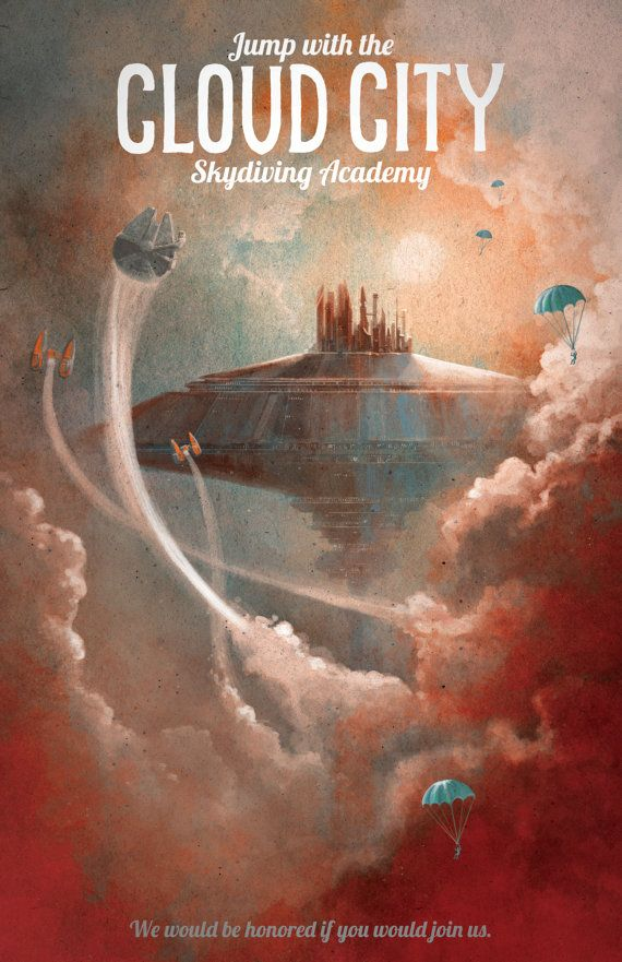 Affiche de voyage de Star Wars Poster Cloud par DreamMachinePrints