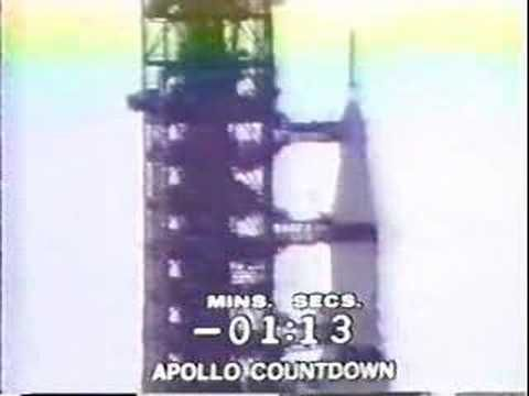 """July 16, 1969: The countdown and lift-off of Apollo 11, NASA's first manned moon mission, with crew Neil Armstrong, Edwin """"Buzz"""" Aldrin, and Michael Collins. (9:55)  [Video]"""