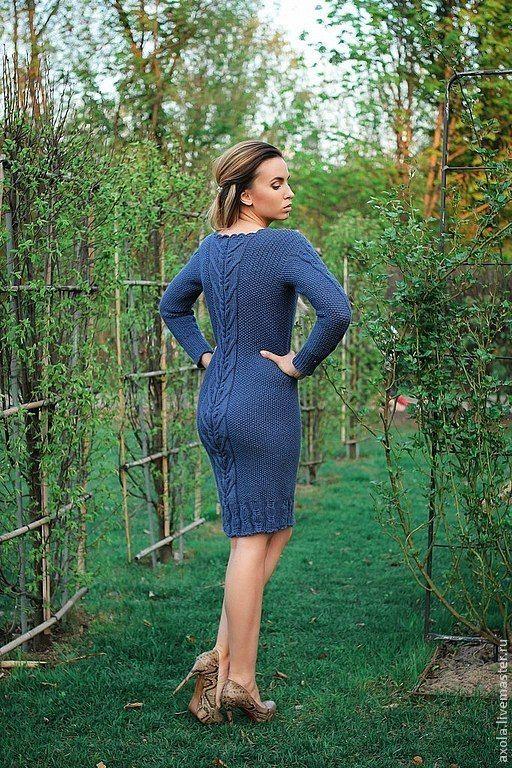 """Платье """" Felicita"""" - тёмно-серый,вязаное платье,платье вязаное,100% мериносовая шерсть"""