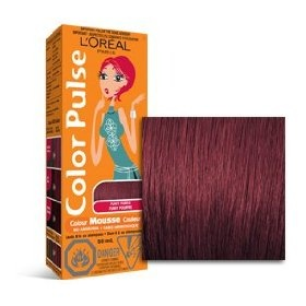 Color Pulse By Loreal, Concentrated Non-Permanent Hair Color Mousse, Funky Purple, 1 Ea $3.99