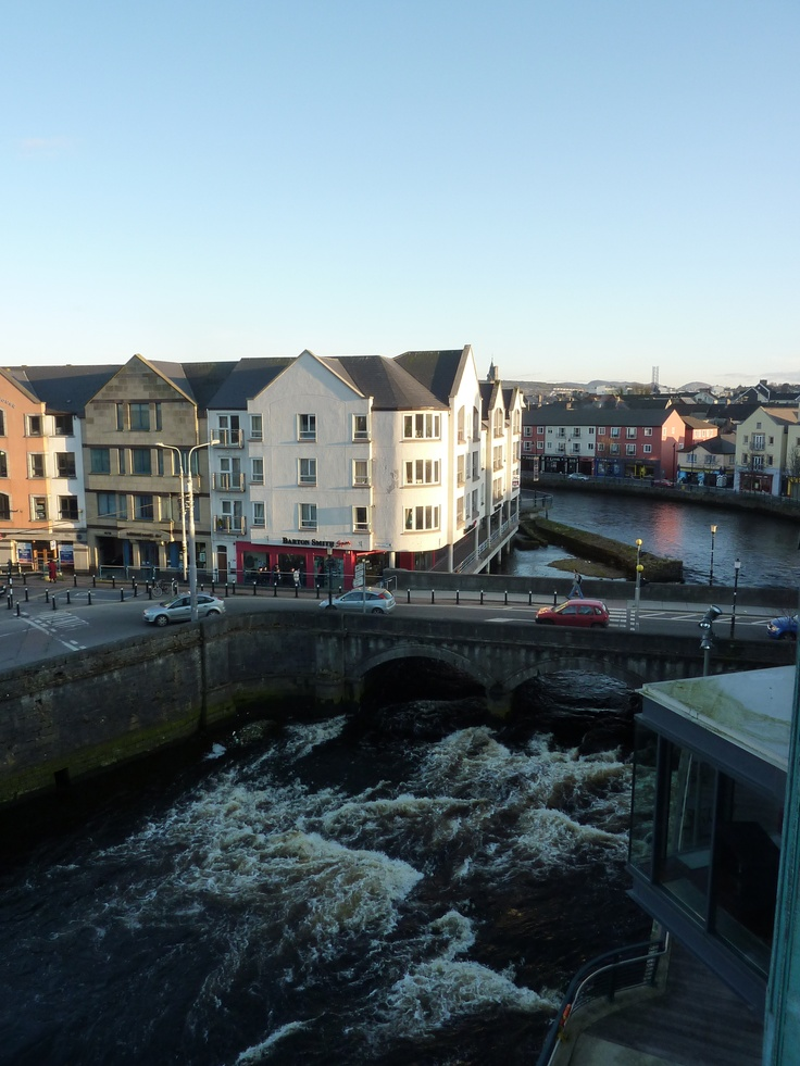 View of the Garavogue from the hotel I used to work in - The Glasshouse. Sligo, Ireland