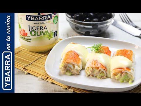 Receta Canelones de cangrejo con Ligeraoliva Ybarra - Ybarra en tu cocina