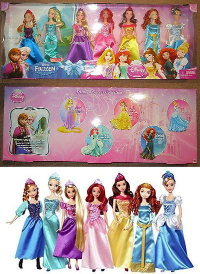 Disney Princesses 146030: Disney Princess Doll Set Ultimate Collection 7 Pack Barbies Elsa Ariel Rapunzel -> BUY IT NOW ONLY: $89.99 on eBay!
