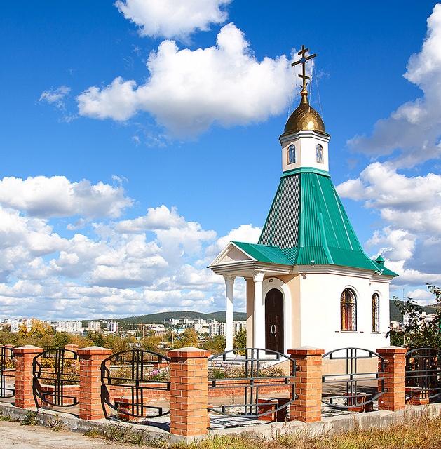 Small Christian church in Chita, Russia