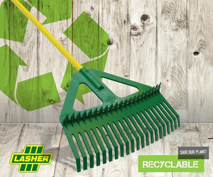 Fully recyclable garden and leaf rake combination. #gardentools #leaves #autumn #gardening