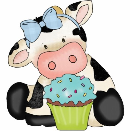 Cupcake Cow Sculpture Cut Outs