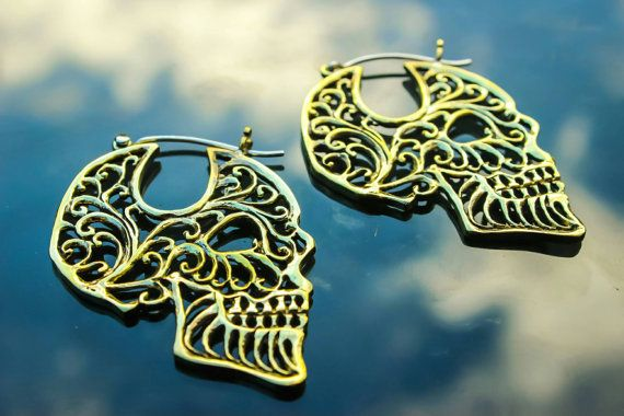 Check out this item in my Etsy shop https://www.etsy.com/uk/listing/477676404/mexican-death-mask-style-skull-earrings