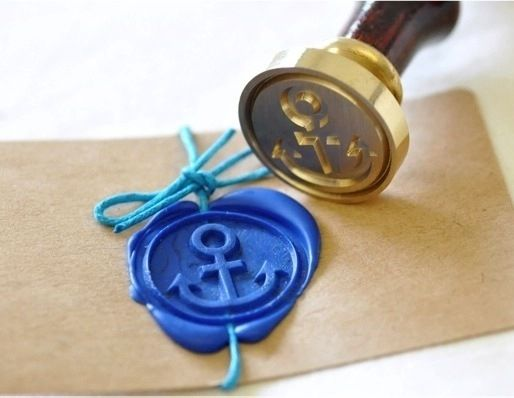 Anchor Gold Plated Wax Seal Stamp Sealing Wax Sealed