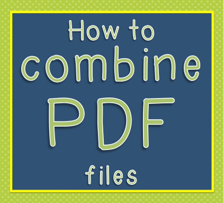The Wizard of Boz: How to combine PDF documents!