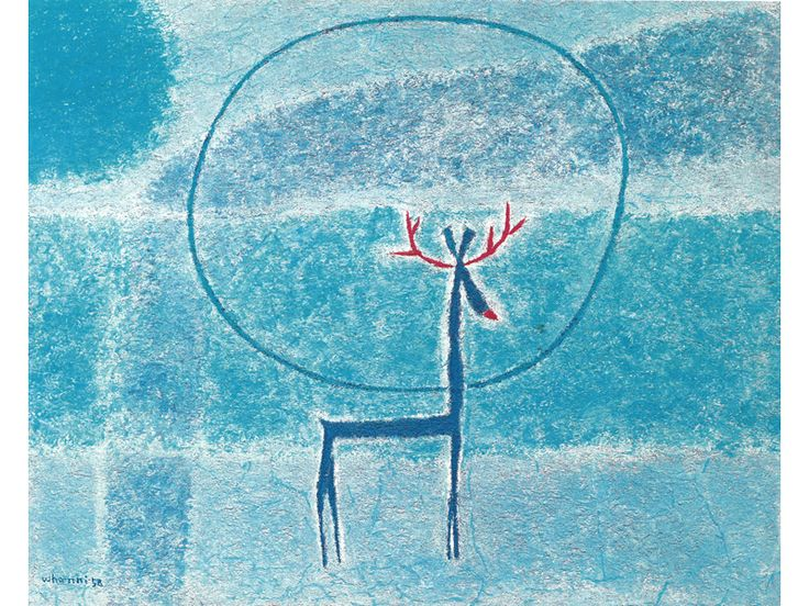 KIM Whanki Deer 1958 Oil on canvas 64.5 x 81 cm