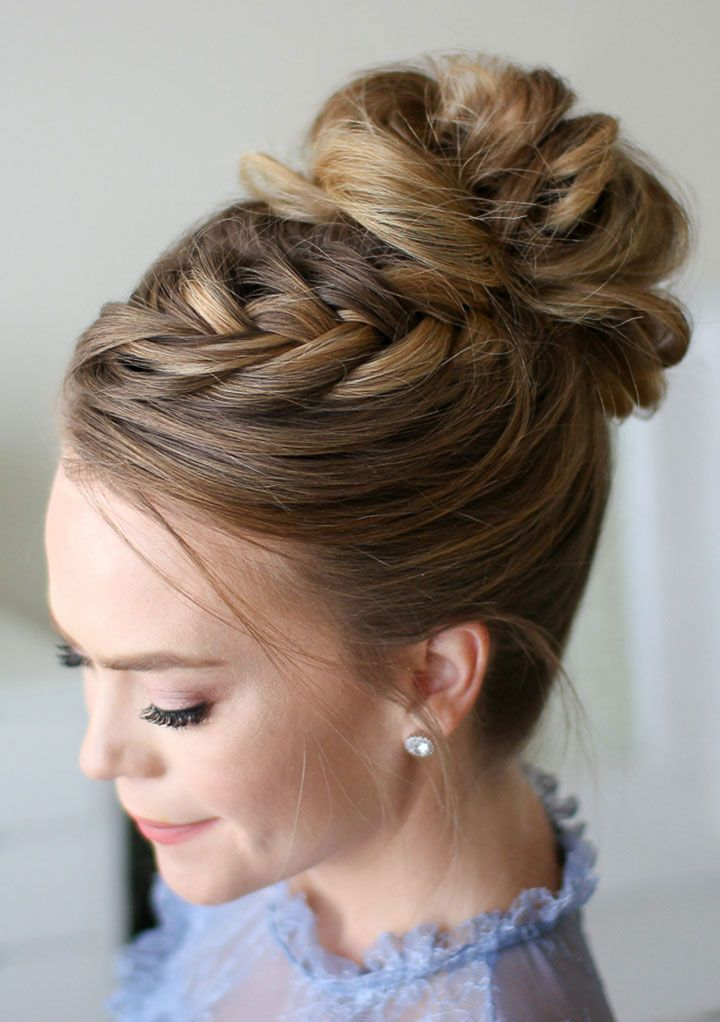 Three of Our Favorite Braided Updos Perfect for Brides ~ Missy Sue's Fishtail French Braid High Bun