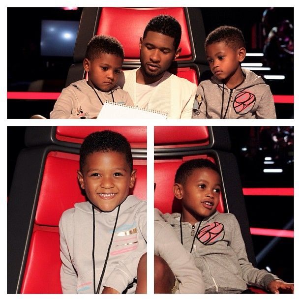 Pin for Later: 21 Celebrity Dads Who Are Nearly Identical to Their Sons Usher and Usher Raymond V and Naviyd Raymond
