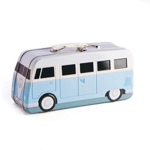 Campervan style metal lunch box - Kombi style tin lunchbox  #retrostyle #giftsformen #birthdaypresentsformen