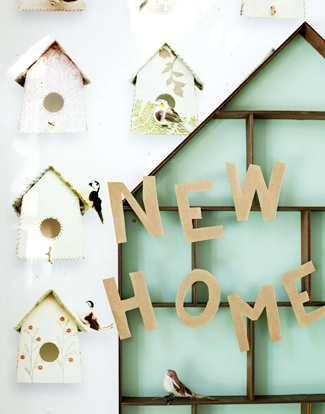 our first new home together. Cute! If you have recently moved into a new house... you must visit www.homemovingcards.com! :)