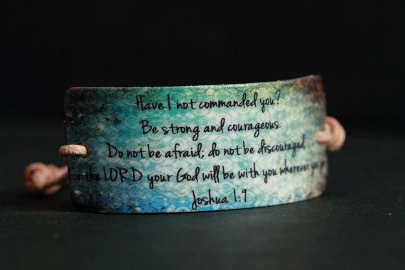 Beach Inspired Joshua 19 Scripture Bracelet by BoundWithTheWord, $10.50