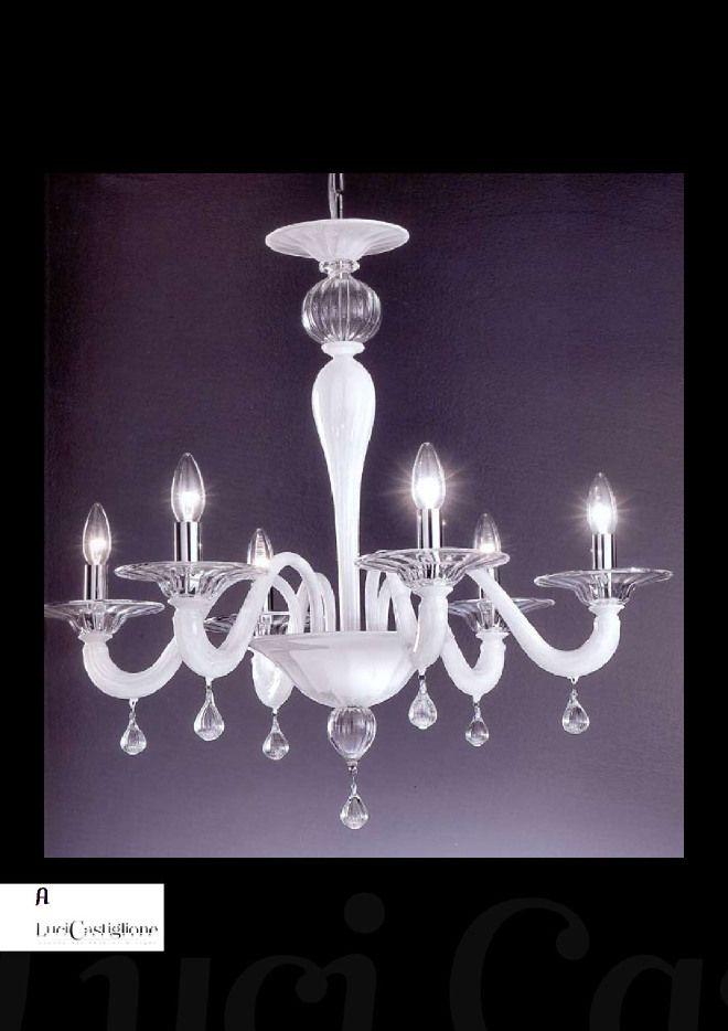 lampadario in vetro di #murano modello 485 #chandeliers
