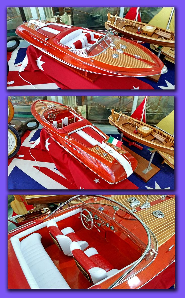 JUST ARRIVED A beautiful large scale model 90cm of the Riva Aquarama speed boat with upholstered seats and sun bed Price $950