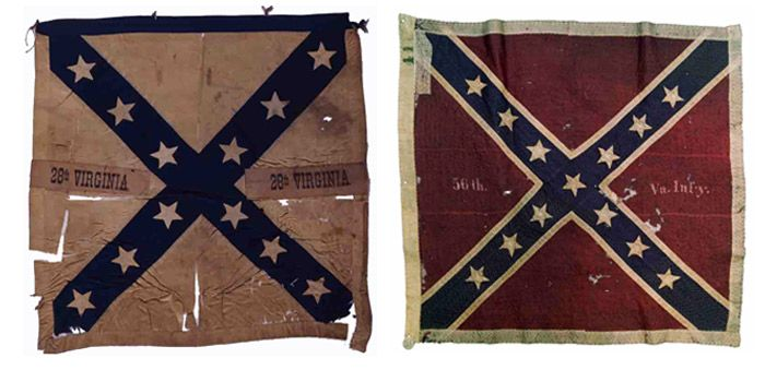 Virginia Civil War Flags | Left: The 28th Virginia Infantry: The 28th Virginia was in Pickett's ...