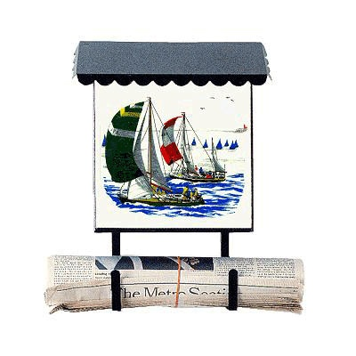 vertical wall mount mailbox. BACOVA 10017 Sailboats Vertical Wall Mounted Mailbox Mount M