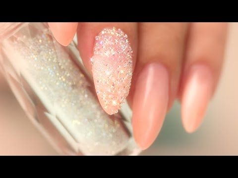 BLING IT UP! - Suzie's 5 Minute Mani - YouTube. Nail Career Education. Akzentz builder gel. and Swarovski pixie dust crystals by