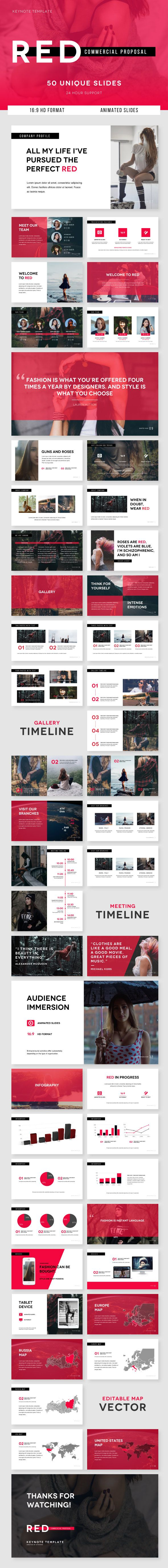 RED Commercial Proposal - Keynote Template - Business Keynote Templates
