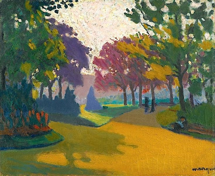 ALBERT MARQUET / Jardin Du Luxembourg. Albert Marquet studied at the Ecole des Beaux-Arts, where he met Henri Matisse in 1890. Matisse became a life-long friend; both artists were accepted in Gustav Moreau's painting class in 1897. In 1900 they worked together on the decoration of the Grand Palais at the Paris World Exhibition.