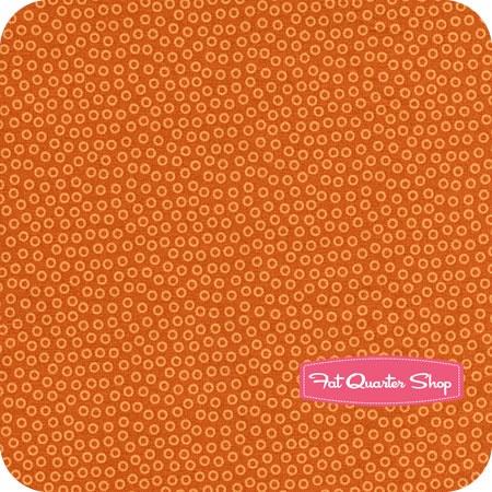 Fruit a La Carte Orange Bubble Dot Yardage