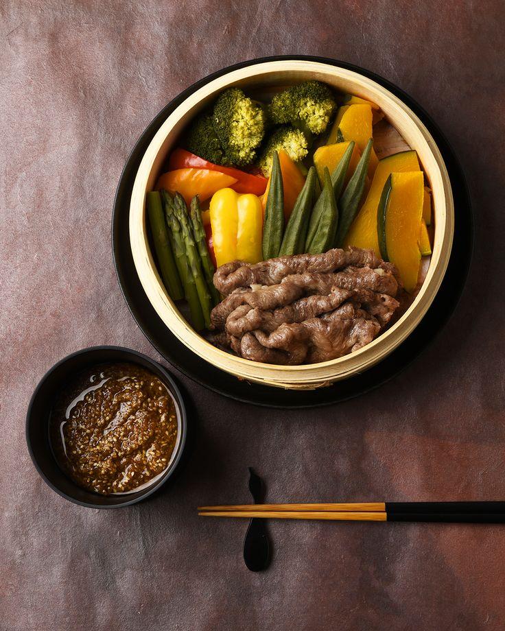 せいろ蒸しサラダ / Steamed Beef & Vegetables #edit_jp