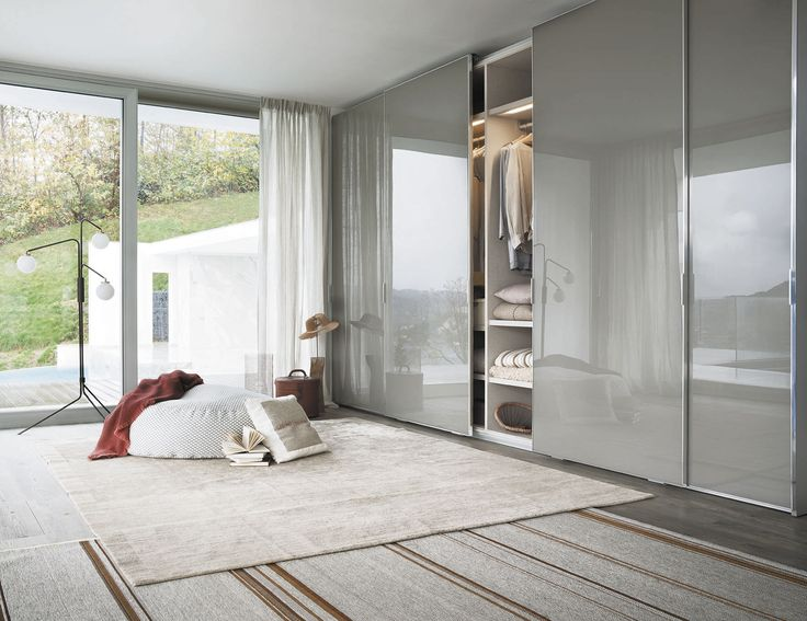Modular wardrobe / contemporary / glass / matte   LEMA Home