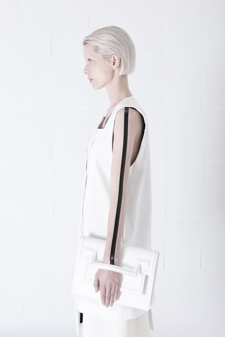 SS15 Delineation hand-clutch bag  #orphanbird #ss15 #whitefashion #allwhite #whitebag #minimalfashion #womenswear #fashion #editorial #minimalism