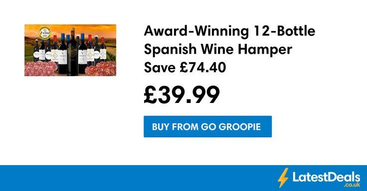 Award-Winning 12-Bottle Spanish Wine Hamper Save £74.40, £39.99 at Go Groopie