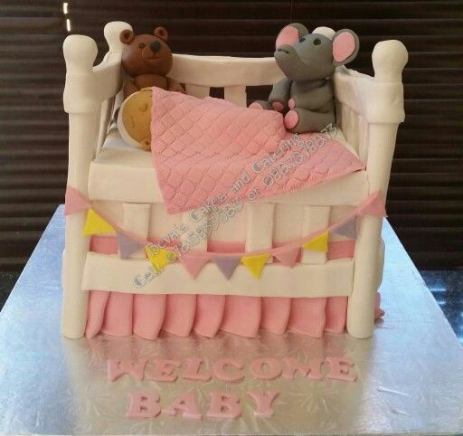 Baby cot bed cake