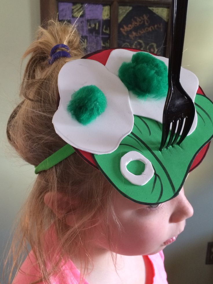 Green Eggs and Ham headband for Dr. Seuss week at school.