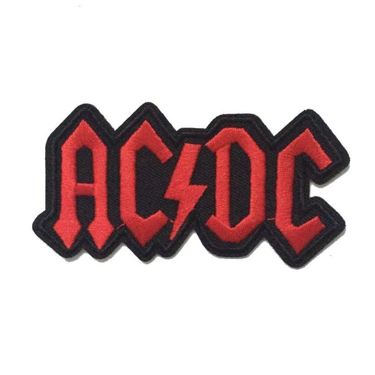 ACDC AC/DC Music Band Logo patch Rock Heavy Metal Punk Music Band Logo Patch Sew Iron on Embroidered Badge Sign Costume Gift