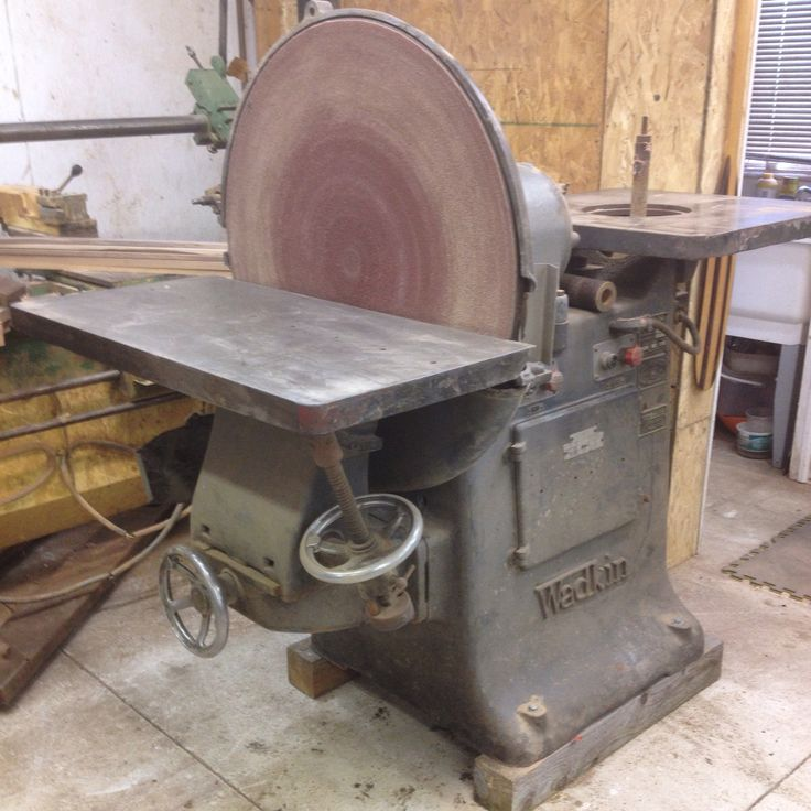 Finally Got This Wadkin Disc Amp Bobbin Sander In A Some