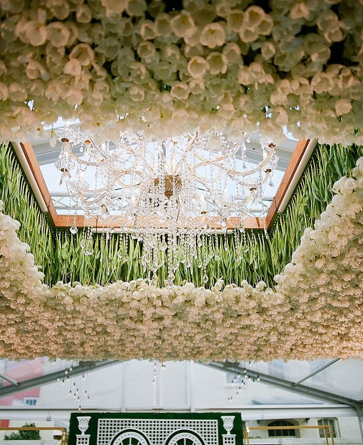 24,000 Tulips Hung Above This Reception Dance Floor! - A Bryan Photo