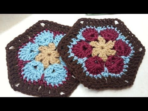 Learn to Crochet with Girlybunches Episode 13 - African Flower / Paperweight Granny - YouTube