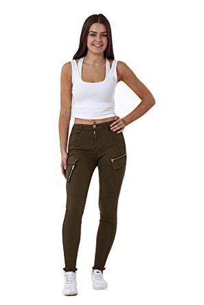 Womens Ex_Rive_Island Cargo Jeans_Khaki_12 (S)