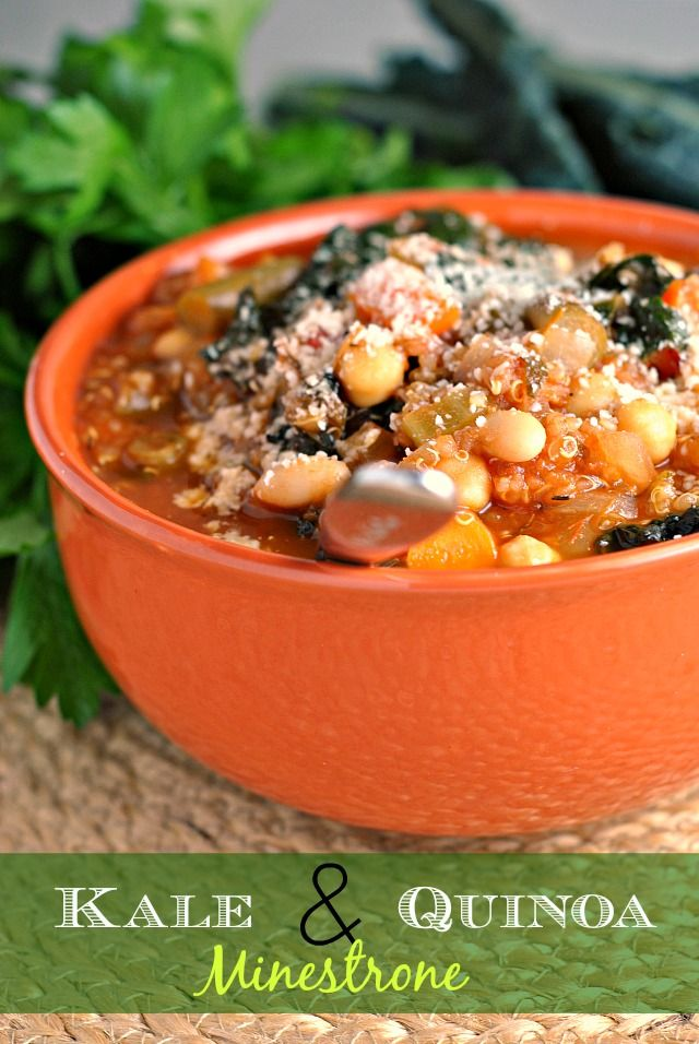 Kale and Quinoa Minestrone recipe