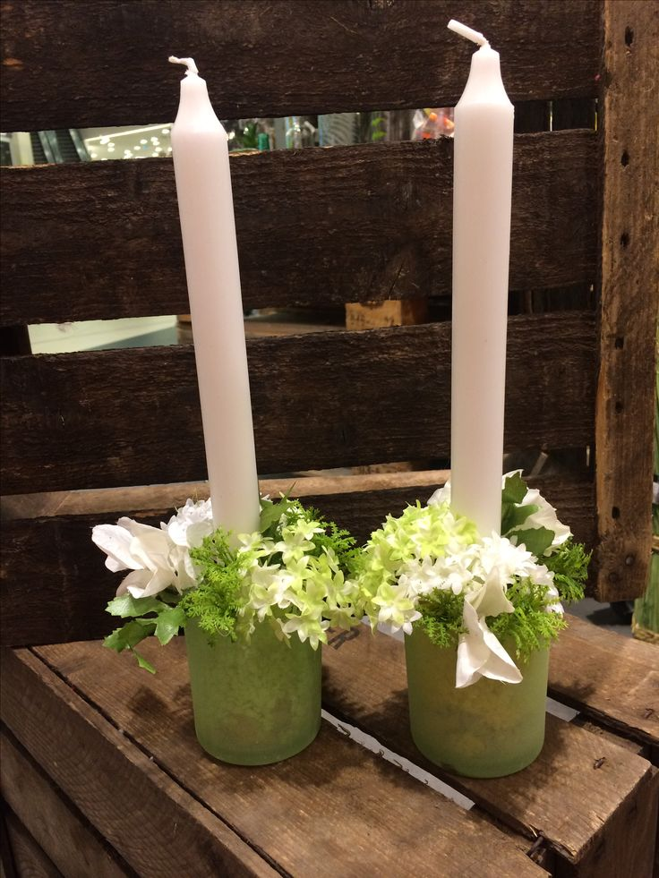 Kerzenhalter mit Frühlingsdeko (alles by NANU-NANA)