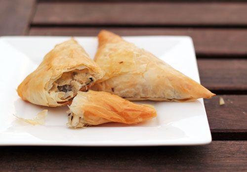 chicken croissants phyllo | thisweekfordinner.com