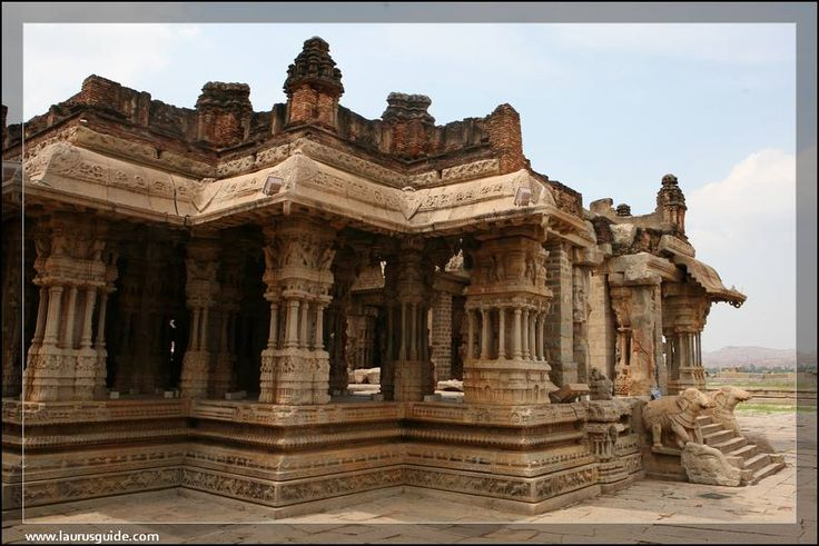 The Vitthla temple is the most exquisitely ornate structure on the site and represents the culmination of Vijayanagara temple architecture. It is a fully developed temple with associated buildings like Kalyana Mandapa and Utsava Mandapa within a cloistered enclosure pierced with three entrance Gopurams.