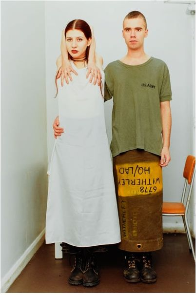 HIS skirt!  Hate the pic tho... Wolfgang Tillmans, Suzanne  & Lutz, 1993