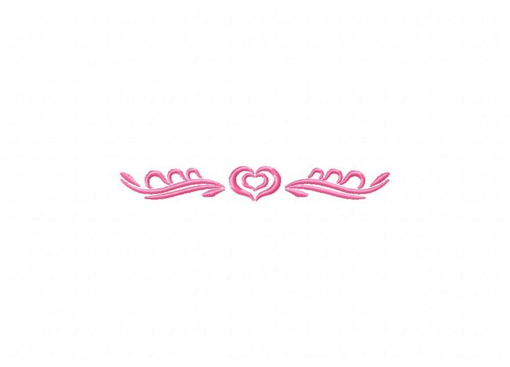 Pink Heart Border Machine Embroidery Design
