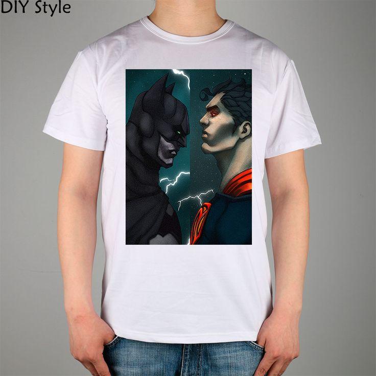 Batman Vs Superman t-shirt Top Lycra Cotton Men T Shirt New Design High Quality