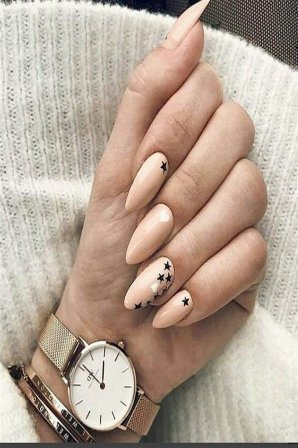 33 Majestic Stars Nail Art Design Ideas Fashonails Star Nail Art Almond Shaped Nails Designs Elegant Nails