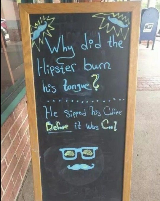 #Hipster, Joke, Beforeitwascool, Coffee, Shop