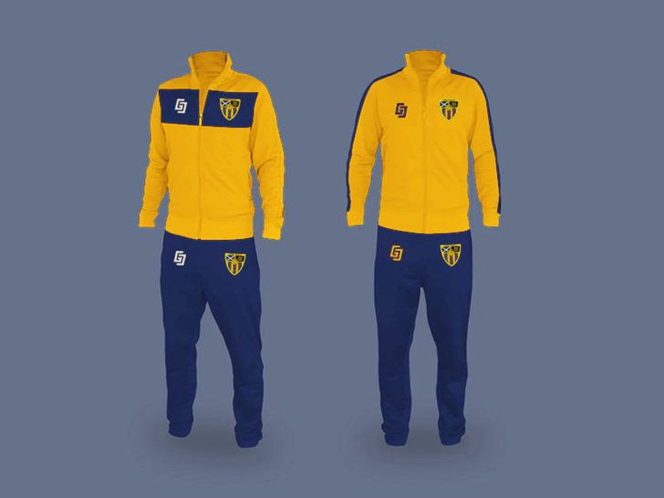 Download 2 Set Free Sports Tracksuit Mockup Psd Psfiles Clothing Mockup Tracksuit Yellow Jacket Outfit