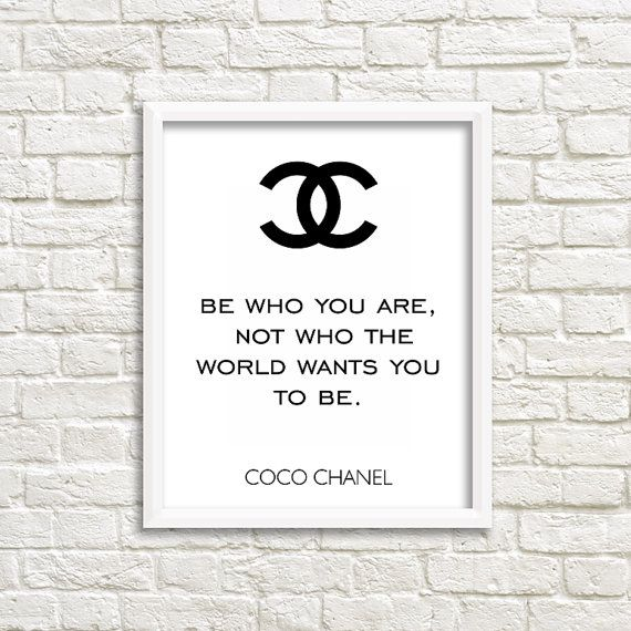 chanel wall art coco chanel quotes teen girl wall by GrafikShop