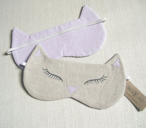 Hey, I found this really awesome Etsy listing at https://www.etsy.com/listing/221514975/lilac-kitty-sleep-mask-cat-sleeping-mask